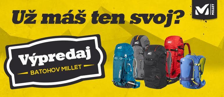 Výpredaj turistických a horolezeckých batohov Millet 7bc52396c5